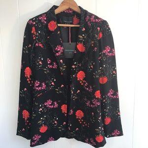 Cynthia Rowley Black Floral Blazer